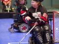 Erin Gordon in net - 2016 Powerhockey Cup