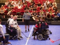 Faceoff against the Minnesota Saints - 2016 Powerhockey Cup