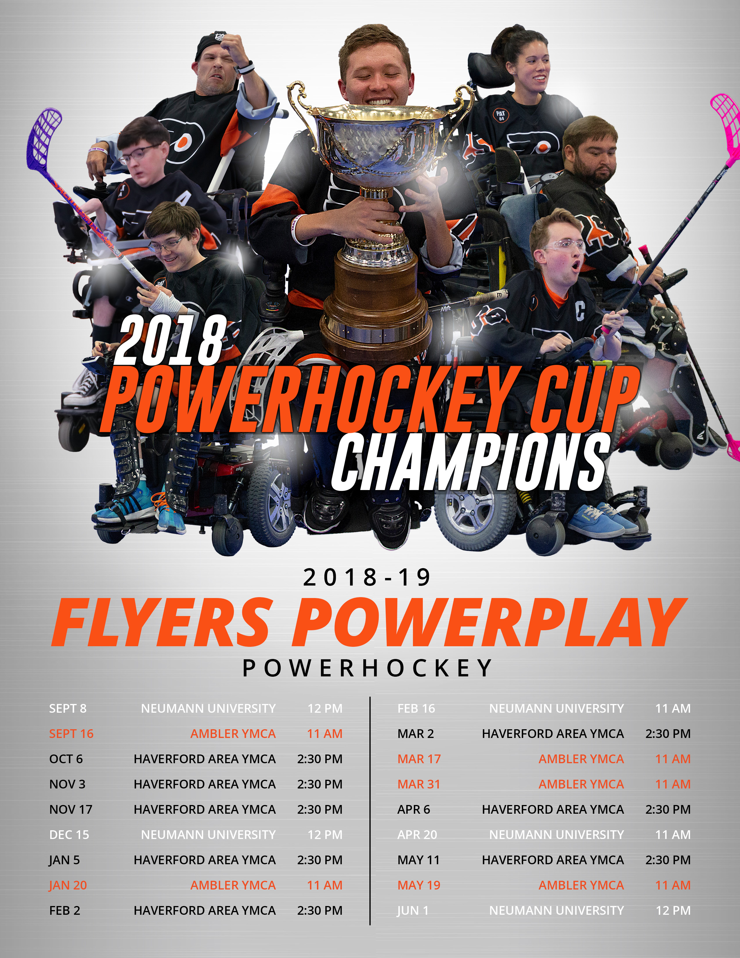 Flyers PowerPlay 2018-19 Schedule
